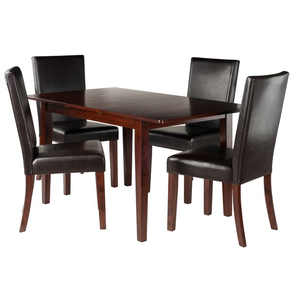 Innsbrook 5 Piece Solid Wood Dining Set By Charlton Home Great price