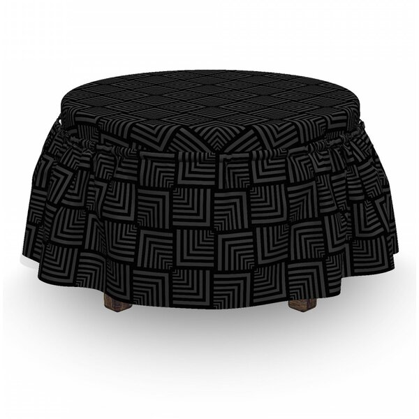 Review Box Cushion Ottoman Slipcover