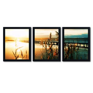 Wish You Were Here by Beata Czyzowska-Young 3 Piece Framed Photographic Print Set by Trademark Fine Art