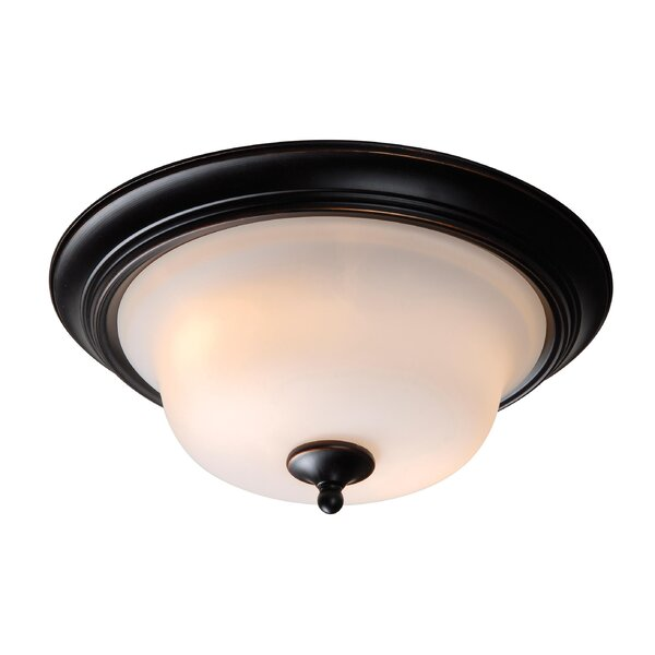 Basket 2-Light Flush Mount by Wildon Home ®