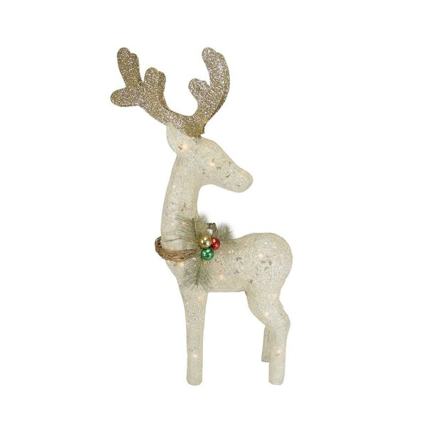 White Reindeer Christmas Decoration by Northlight Seasonal