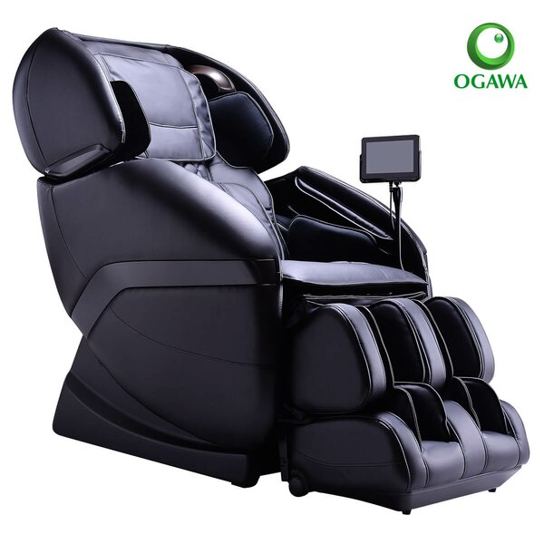 Active Reclining Heated Full Body Massage Chair With Ottoman By Ogawa