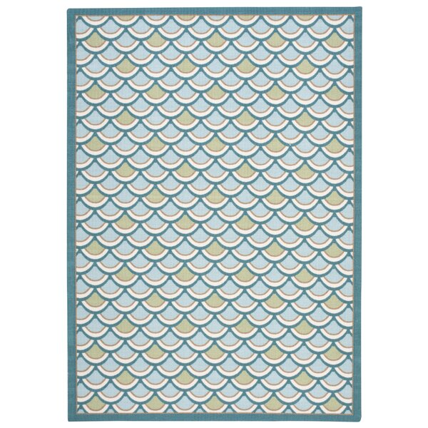 Reynalda Blue Indoor/Outdoor Area Rug by Highland Dunes