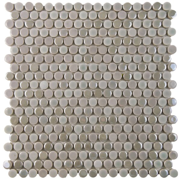 Tucana 0.59 x 0.59 Porcelain Mosaic Tile in Ash by EliteTile