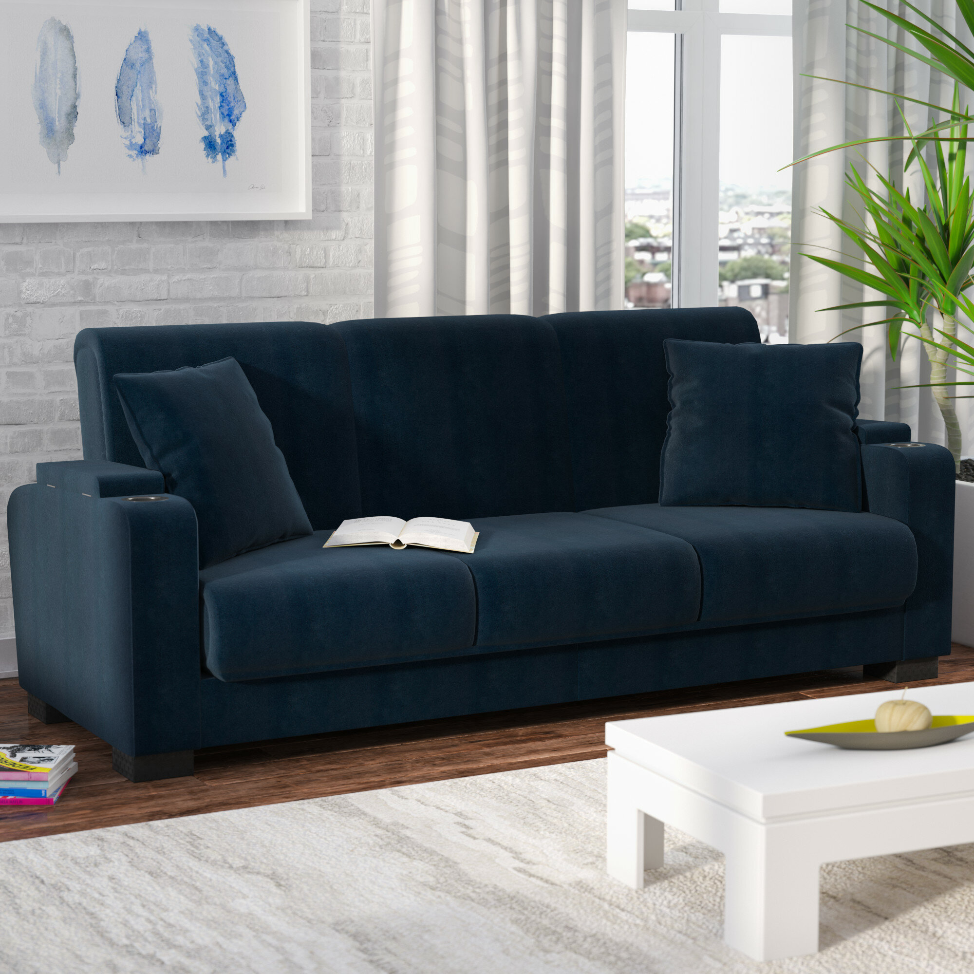 T Austin Design Ciera Convertible Sleeper Sofa Reviews Wayfair Ca