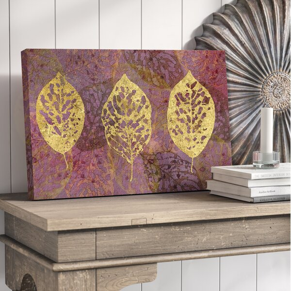 Fallen Leaves Graphic Art on Wrapped Canvas by Bungalow Rose