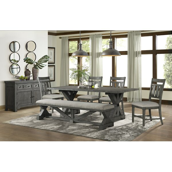 Tandy 6 Piece Solid Wood Breakfast Nook Dining Set By Gracie Oaks