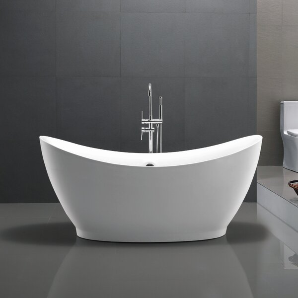 67.5 x 31.5 Freestanding Soaking Bathtub by Vanity