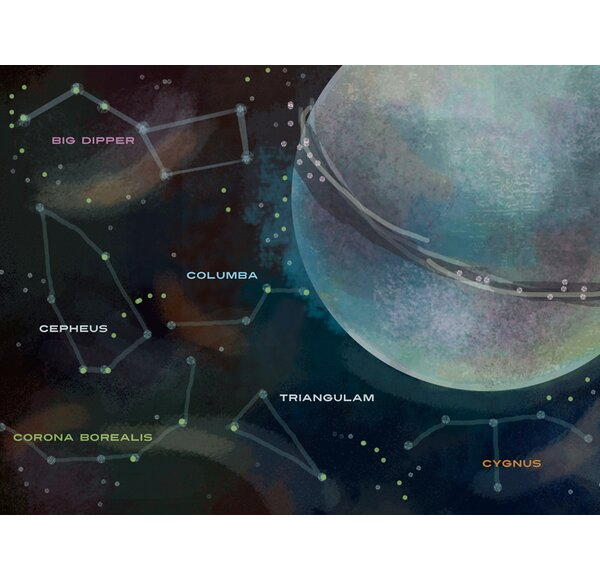 Jefferson Moons and Constellations by Alison Jerry Wall Stickers by Zoomie Kids