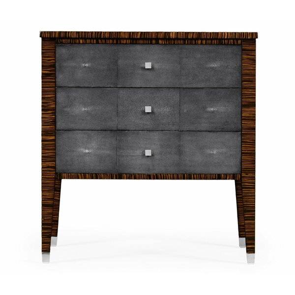 Metropolitan Faux Macassar 3 Drawer Accent Chest by Jonathan Charles Fine Furniture