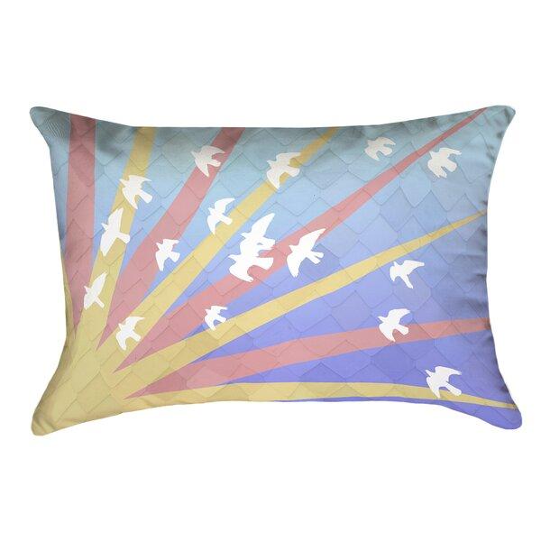 Enciso Birds and Sun Lumbar Pillow by Brayden Studio