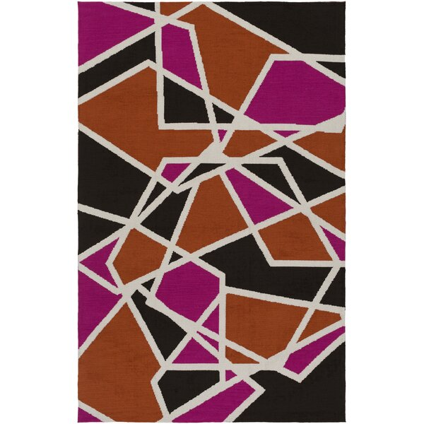 Blodgett Hot Pink/Orange Area Rug by Wrought Studio
