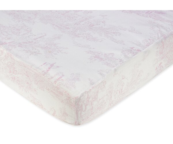 French Toile Fitted Crib Sheet by Sweet Jojo Designs