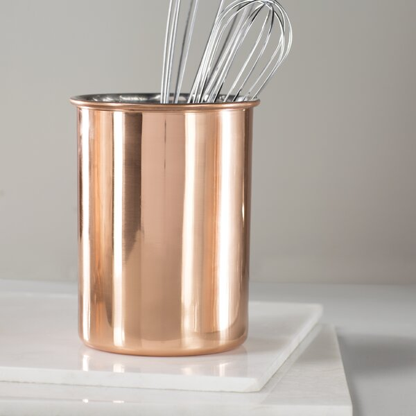 Copper Utensil Caddy by Mint Pantry