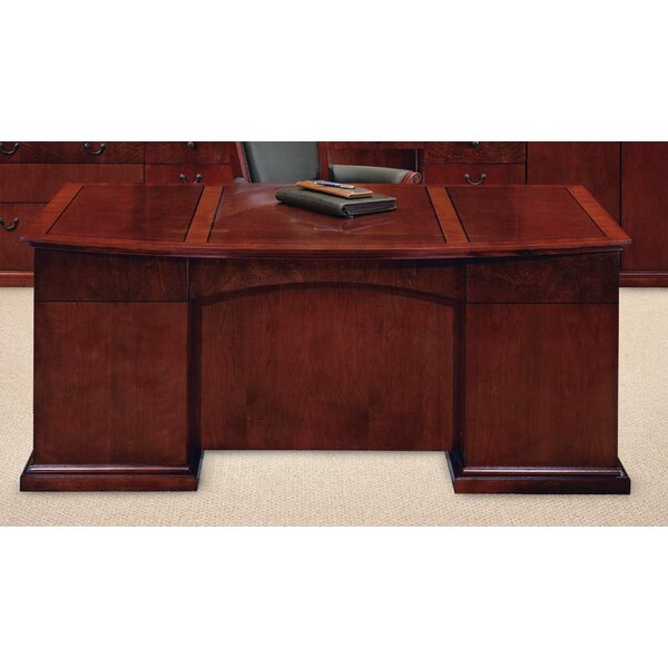 Del Mar Bow Front Executive Desk by Flexsteel Contract