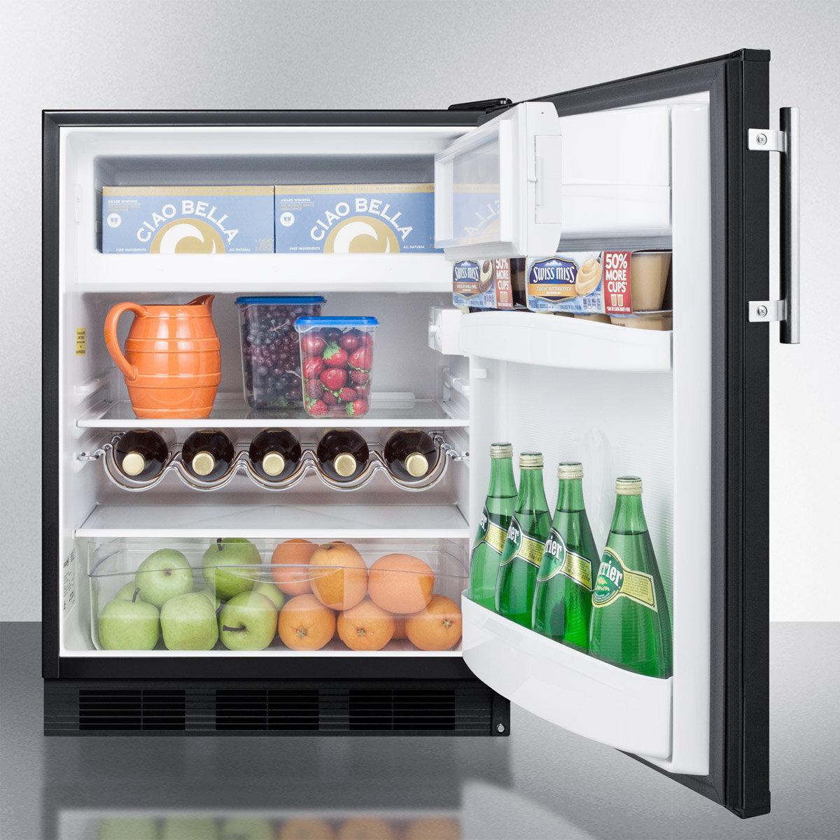 Summit Liance 24 Inch 5 Cu Ft Convertible Undercounter Refrigerator With Freezer Wayfair