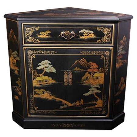 Diane Crackle Corner Accent Cabinet by World Menagerie