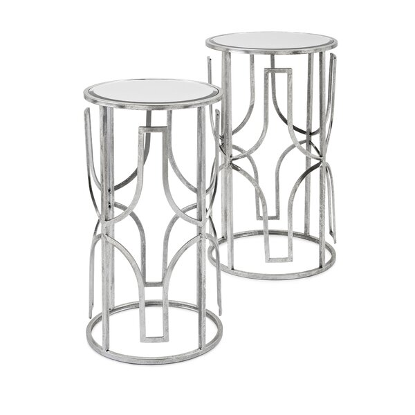 Rousey Mirror 2 Piece Nesting Tables by Mercer41