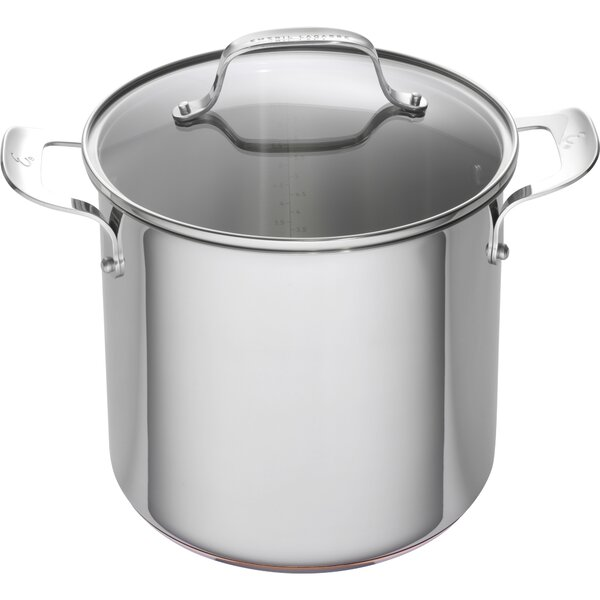 8 qt. Stainless Steel Copper Core Stock Pot with Lid by Emeril Lagasse