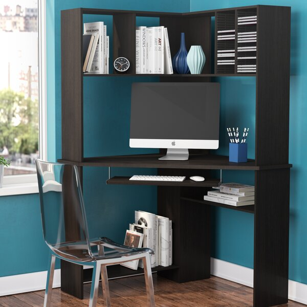 Friedman Corner Desk with Hutch by Latitude Run