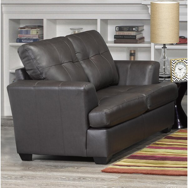 Cowhill Leather Loveseat by Orren Ellis