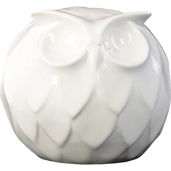Pohl Spherical Owl Figurine by August Grove