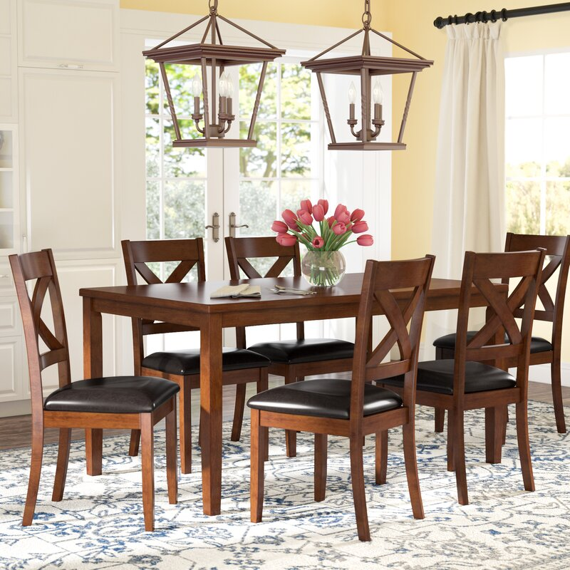 7 piece dining table set round breakfast table nadine piece breakfast nook dining set darby home co reviews