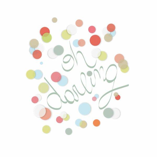 Oh Darling Paper Print by Trendy Peas