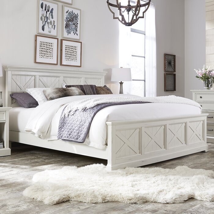 Moravia Standard Solid Wood 4 Piece Bedroom Set