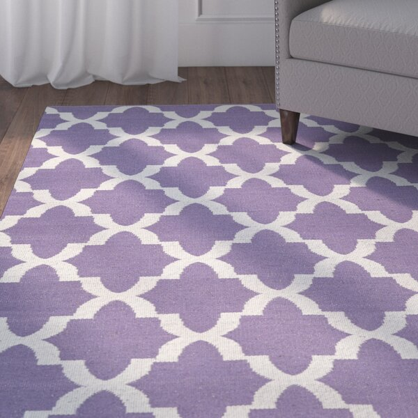 Tyesha Lilac/Cream Indoor/Outdoor Area Rug by Winston Porter