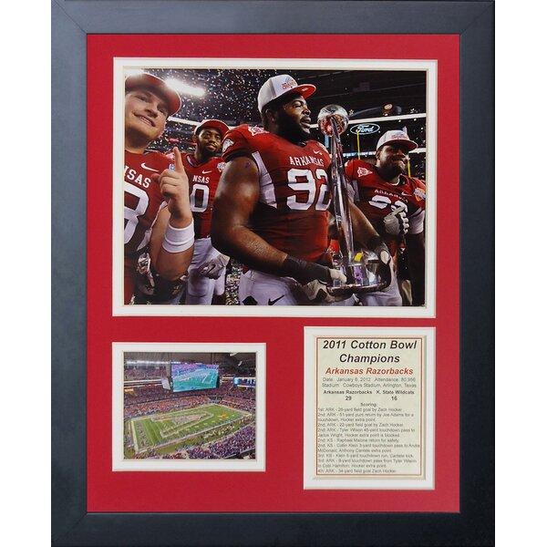 Arkansas Razorbacks - 2012 Cotton Bowl Framed Memorabilia by Legends Never Die