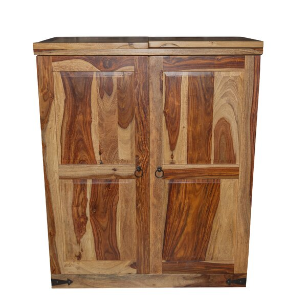 Traci Sheesham Wood Bar Cabinet By Loon Peak