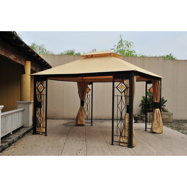 Replacement Mosquito Netting for Art Glass Gazebo by Sunjoy