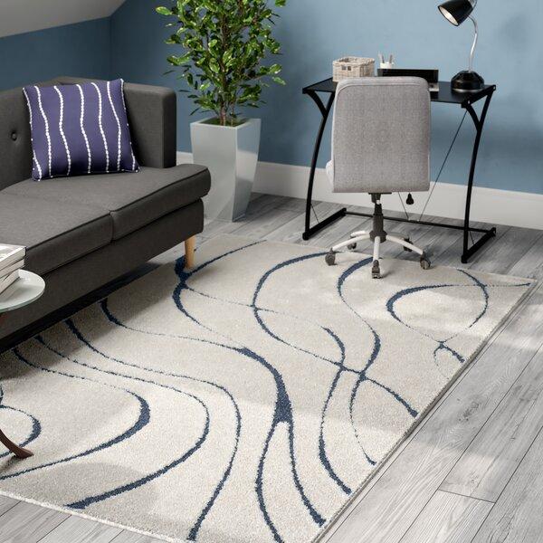 Enrique Cream/Blue Area Rug by Zipcode Design