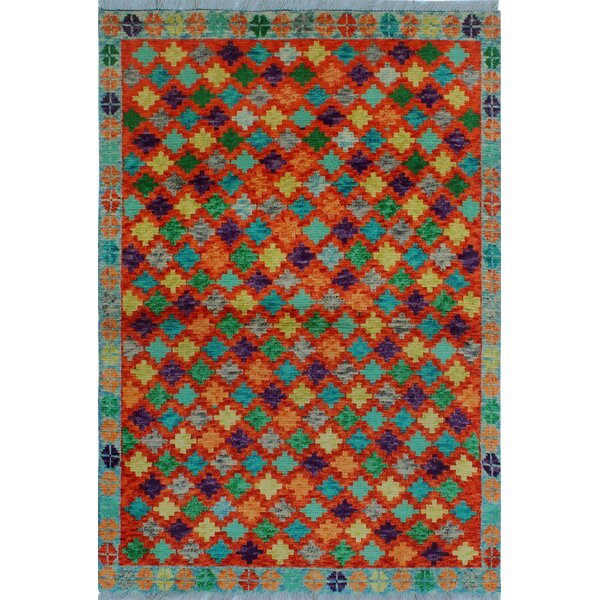 One-of-a-Kind Millender Abidemi Hand-Knotted Wool Red Area Rug by Bloomsbury Market