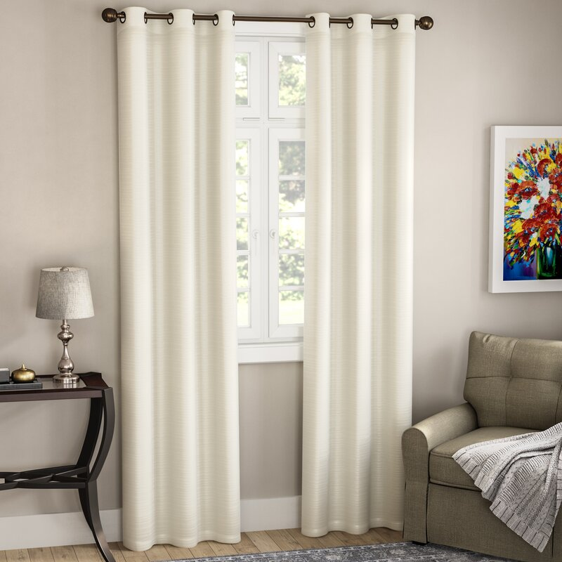 Edison Solid Room Darkening Grommet Curtain Panels