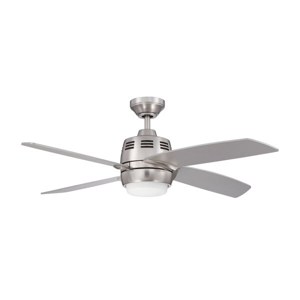 44 Emely 4-Blade Ceiling Fan with Wall Remote by Charlton Home