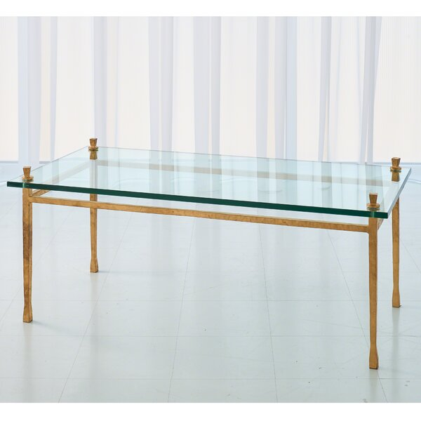 Quad Pod Coffee Table With Tray Top By Global Views