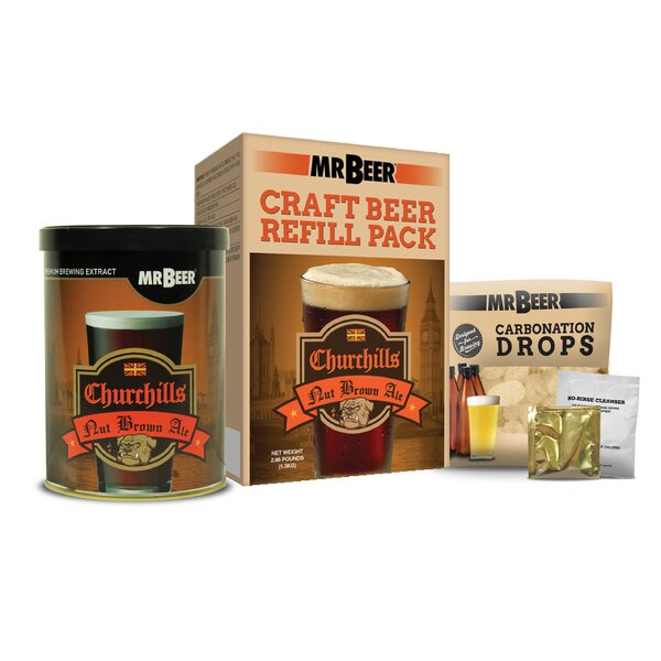Mr. Beer Churchills Nut Brown Ale Beer Making Refill Kit by Mr. Beer
