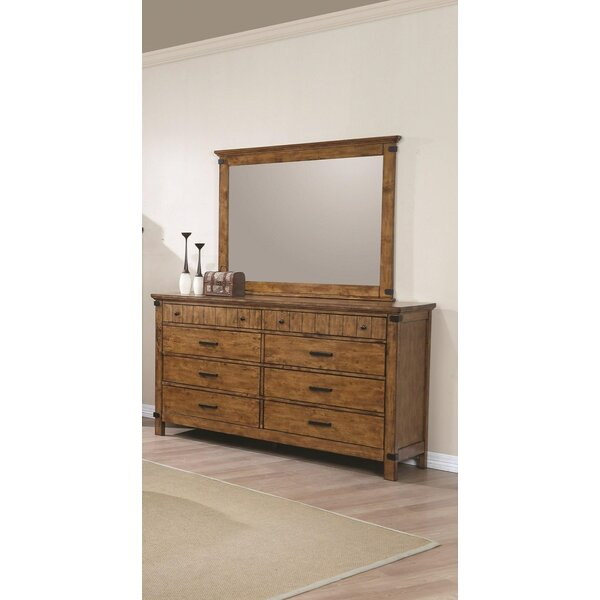 Hartford 8 Drawer Double Dresser with Mirror by Loon Peak