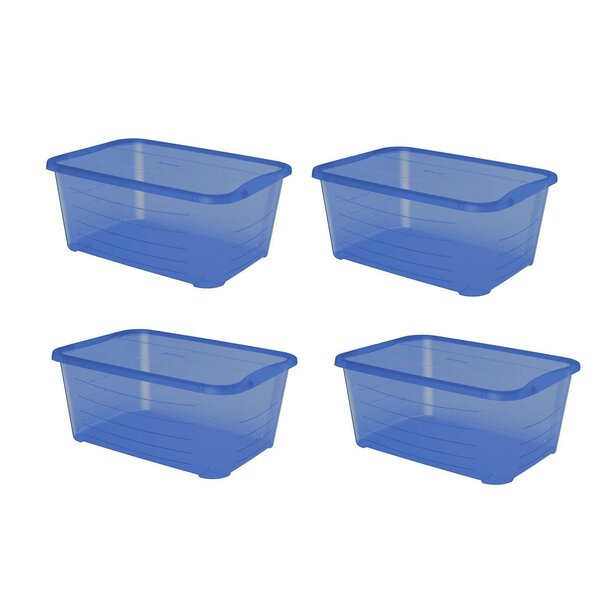 Plastic Protective Storage Tote (Set of 4)