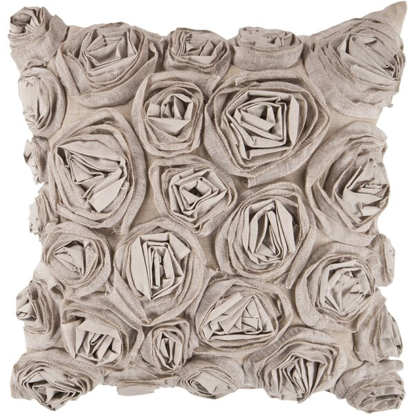 Beatrix Flowers Cotton Throw Pillow by House of Hampton