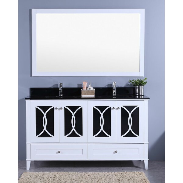 Bezu 60 Double Bathroom Vanity with Mirror by Mercer41