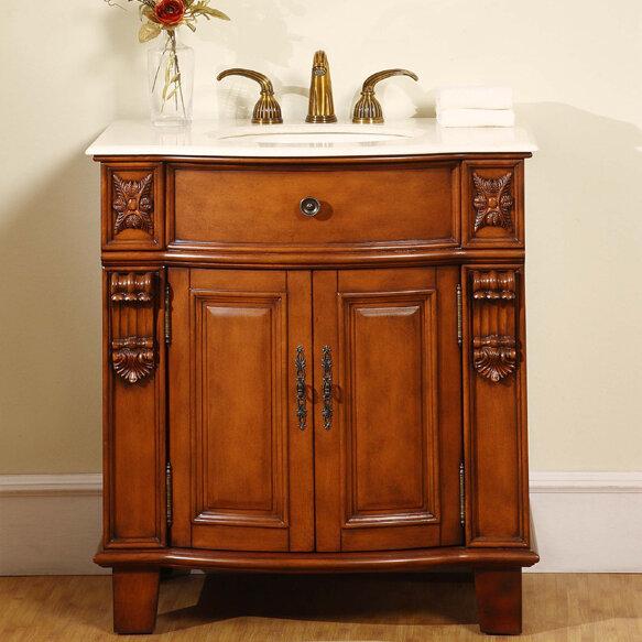 Silkroad Exclusive Savannah 33 Single Bathroom Vanity Set