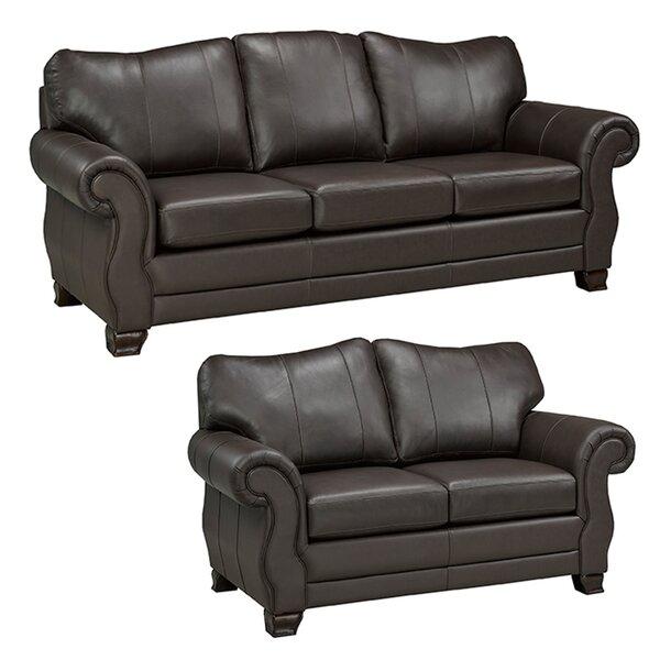 Jettie Leather 2 Piece Living Room Set by Fleur De Lis Living
