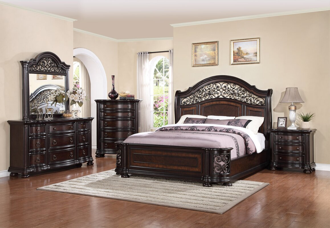 Fleur De Lis Living Winkelman King Panel 4 Piece Bedroom Set Reviews Wayfair