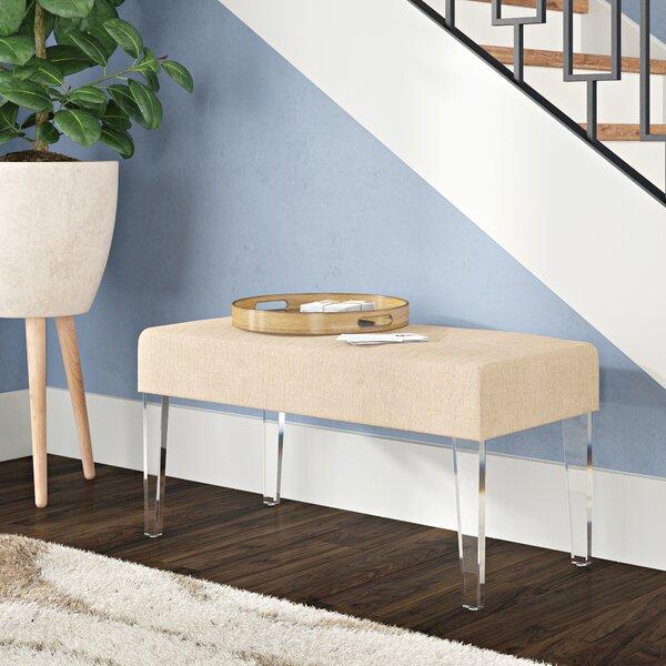 Amey Acrylic Leg Rectangular Upholstered Bench by Ivy Bronx