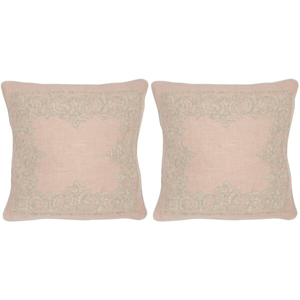 Florentine Linen Throw Pillow (Set of 2) by Safavieh