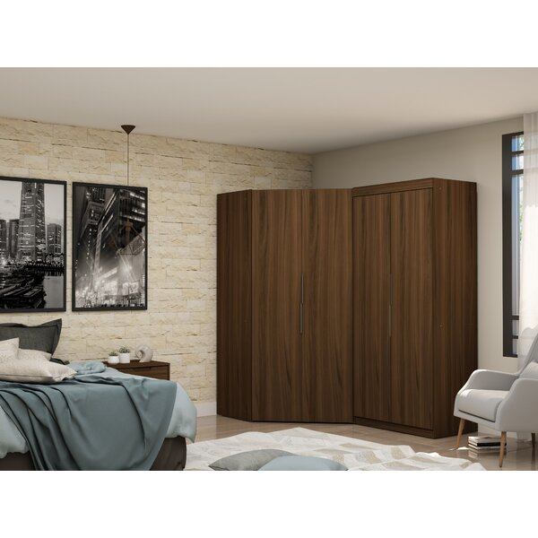 Delhi Sectional Corner Wardrobe Armoire (Set of 2) by Latitude Run