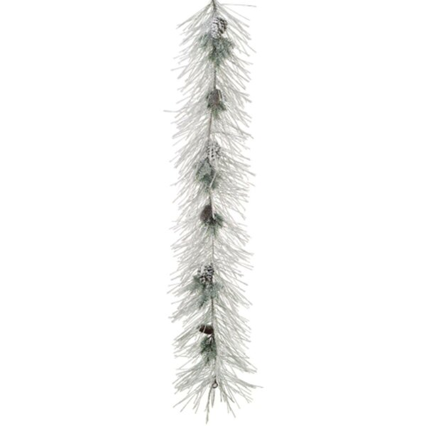 Flocked Long Needle Pine & Pine Cone Artificial Christmas Garland by Tori Home
